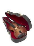Wood violin Stock Images