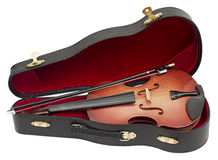 Wood violin Royalty Free Stock Image