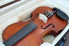 Wood violin Stock Image