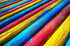 Wood with vivid color Stock Image