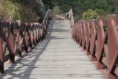 Wood walking on koh larn island Royalty Free Stock Images