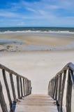 Wood walkway to the beach Stock Photo