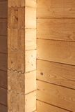 Wood wall. Closeup details of the yellow wood wall Royalty Free Stock Images