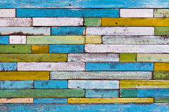 Wood wall. Colorful painted wood wall for background Royalty Free Stock Images