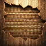 Wood on the wall. Made in 3d Stock Photography