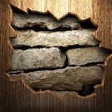 Wood on the wall Royalty Free Stock Images