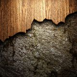 Wood on the wall Stock Photo
