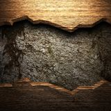 Wood on the wall. Made in 3d Stock Images
