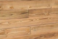 Wood Wall. Wood makes up a landscaping wall Stock Photos