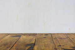 Wood and wall background. Wood and concrete wall textute background Royalty Free Stock Photography