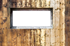 Wood wall background window Royalty Free Stock Photos
