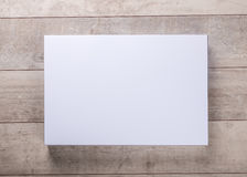 Wood wall and blank frame Stock Photos