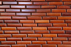 Wood Wall Brick Style. Wall decorate with engraving wood sort in form of brick Royalty Free Stock Photography