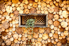 Wood Wall. China,lijiang,suhe,ancient architecture Royalty Free Stock Photo