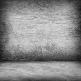 Wood wall and concrete floor texture , Grunge design Royalty Free Stock Photography