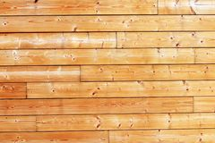 Wood wall of natural pine boards outdoor background texture. A wood wall construction made of wooden beams. a wall structure formed of wood, comprising a royalty free stock photo