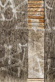 Wood wall. Distressed and weathered wood wall Stock Photo