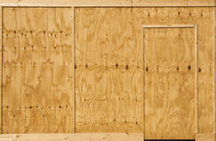 Wood wall and door Stock Photos