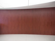 Wood wall in exhibition room Stock Photography