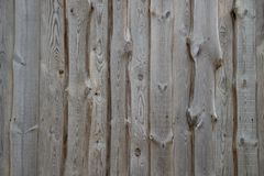 Wood wall facade fragment texture. Rural background from wooden planks with knots in vertical parallel pattern. Wood wall facade fragment texture stock photography