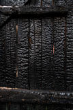 Wood wall after fire Stock Photos