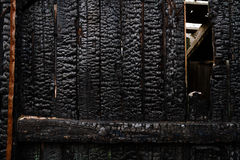Wood wall after fire Stock Image