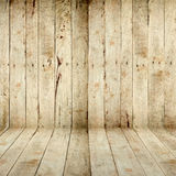 Wood wall and floor Royalty Free Stock Photo