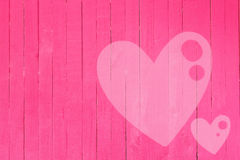 Wood wall graffiti heart, valentines day background Royalty Free Stock Photos