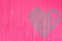 Wood wall graffiti heart, valentines day background Stock Photo