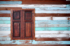 The wood wall old condition many color Royalty Free Stock Image