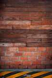 Wood wall  side road Stock Images