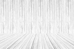 Wood wall and terrace texture Soft tone White color Stock Images
