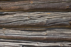 Wood wall texture of old log house. Stock Photo