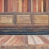 Wood wall thai design. Texture. Royalty Free Stock Image
