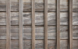 Wood wall of traditional Japanese house Royalty Free Stock Photo