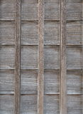 Wood wall of traditional Japanese house Royalty Free Stock Photography