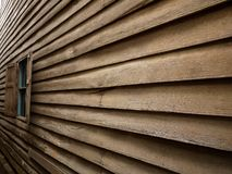 The wood wall and the window Stock Image