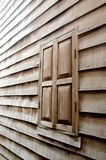 The wood wall and the window Royalty Free Stock Image