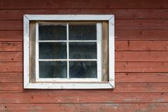 Wood wall and window Royalty Free Stock Photos