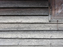 Wood Wall and Window Corners. Old Wood Wall and Window Corners stock image