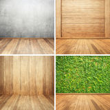 Wood Wall For wood Room collection set Stock Photo