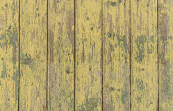 Wood wall yellow and green at shabby style Royalty Free Stock Images
