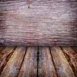 Wood walls and floor Royalty Free Stock Image