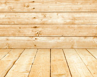Wood walls and floor. Stock Photos