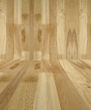 Wood walls on floor background Royalty Free Stock Images