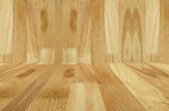 Wood walls on floor background Stock Photos