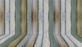 Wood walls and floor for background. Natural wood background, tile, wood room Stock Images