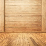 Wood walls and floor for background for your house Royalty Free Stock Photo