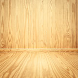 Wood walls and floor for  text and background Stock Photos