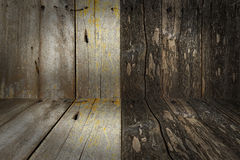 Wood walls and floor texture and background Stock Image
